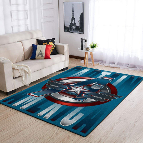 Marvel Superhero Captain America Area Rugs / Movie Living Room Carpet, Custom Floor Decor 04