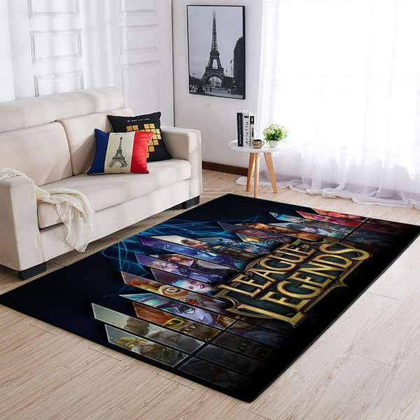 League Of Legends LOL Area Rug / Gaming Carpet, Gamer Living Room Rugs, Floor Decor 19091619