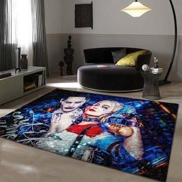Joker & Harley Quinn Area Rugs / Movie Living Room Carpet, Custom Floor Decor 1911013