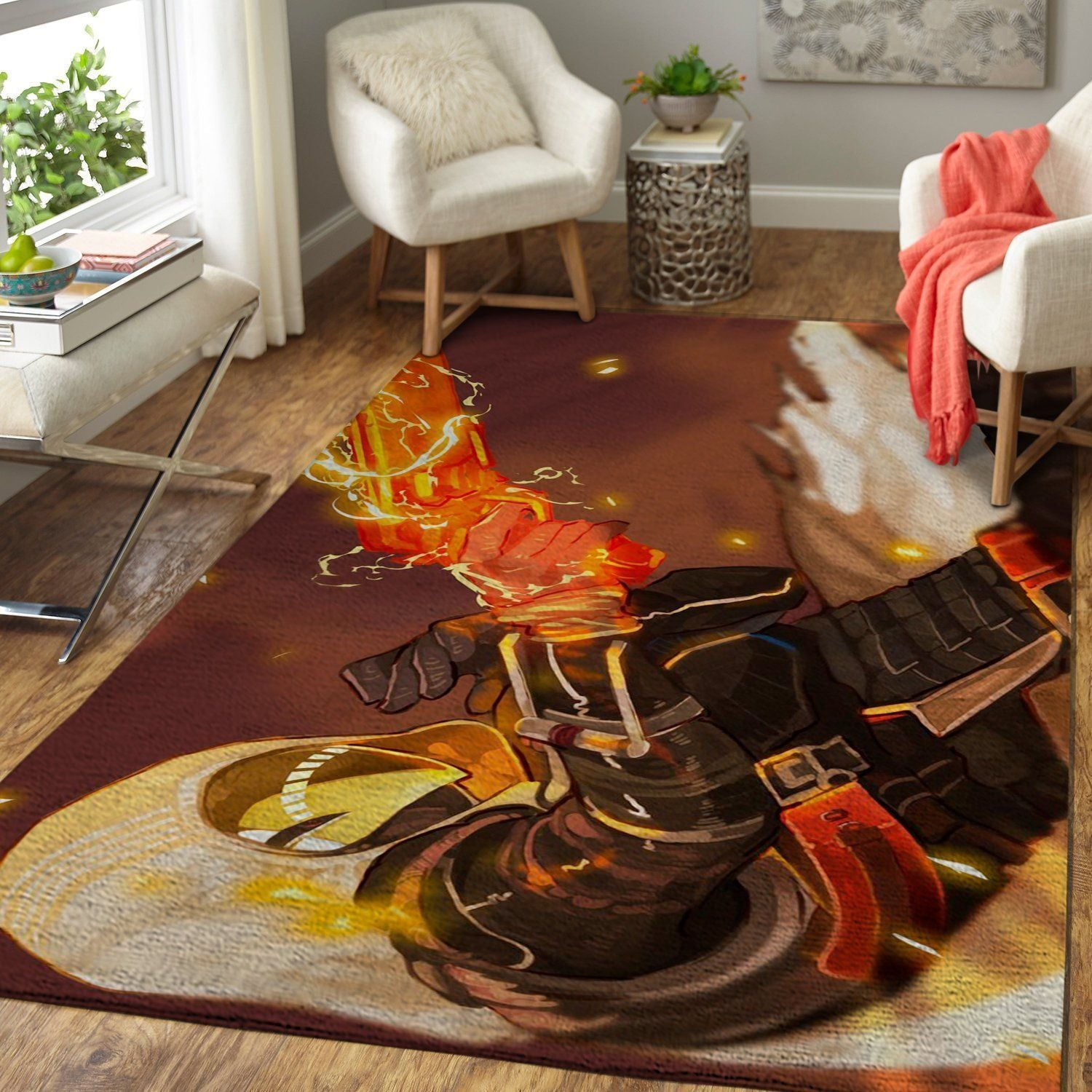Destiny Hunter Gunslinger Area Rug / Gaming Carpet, Gamer Living Room Rugs, Floor Decor D30109