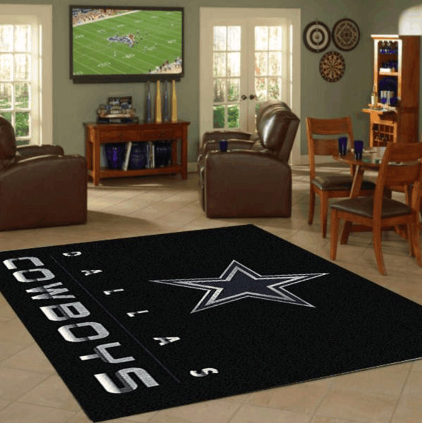 Dallas Cowboys Area Rugs NFL Football Living Room Carpet Team Logo Custom Floor Home Decor DC1