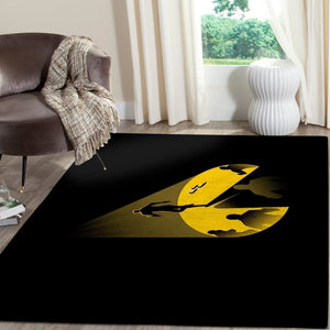 Pacman Area Rug Video Game Carpet, Gamer Living Room Rugs, Floor Decor 101114
