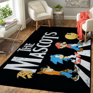 Super Smash Bros. Area Rug Nintendo Video Game Carpet, Gamer Living Room Rugs, Floor Decor 191013