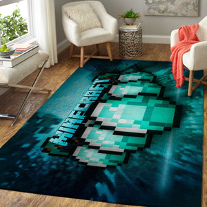 Minecraft Area Rug Video Game Carpet, Gamer Living Room Rugs, Floor Decor M30104