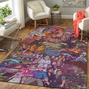 Jurassic Park Area Rugs / Movie Living Room Carpet, Custom Floor Decor 1