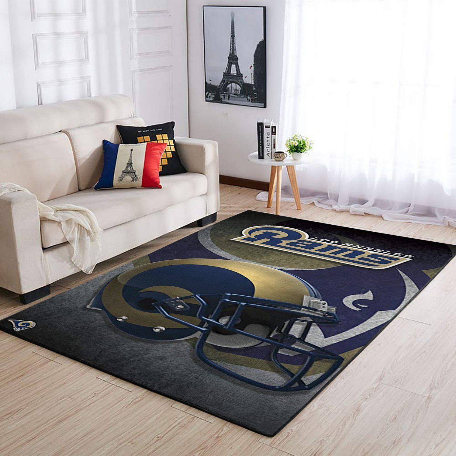 Los Angeles Rams Area Rug, NFL Football Team Logo Carpet, Living Room Rugs Floor Decor 02