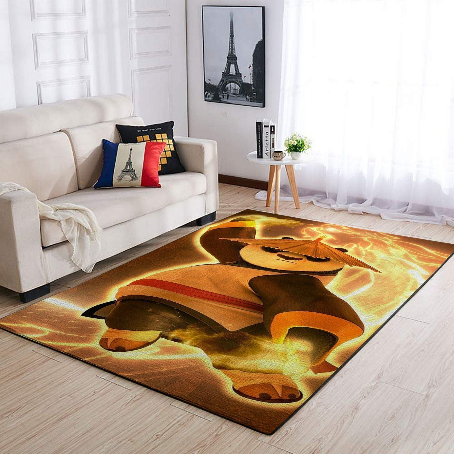Kungfu Panda Area Rugs, Movie Living Room Carpet, Custom Floor Decor 2