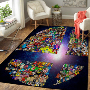 Super Smash Bros. Area Rug Nintendo Video Game Carpet, Gamer Living Room Rugs, Floor Decor 19091602