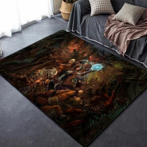 Diablo III Area Rug / Game Themed Room Living Room Rugs, Custom Carpet Floor Decor 02118
