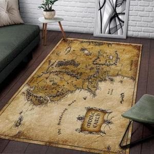 MIDDLE EARTH Map Area Rugs - Lord Of The Ring / Movie Living Room Carpet, Custom Floor Decor 02112