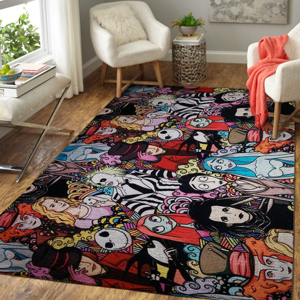 Tim Burton Characters Area Rugs, Movie Living Room Carpet, Custom Floor Decor 2