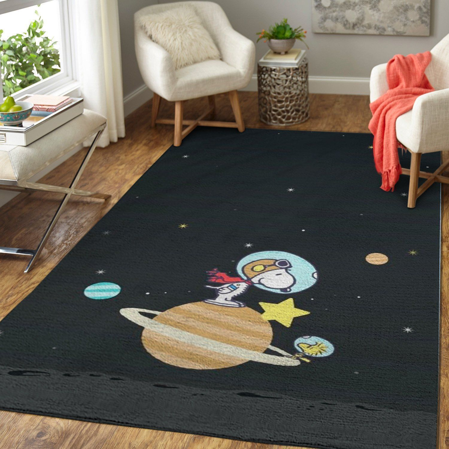 Snoopy Area Rugs / Disney Movie Living Room Carpet, Custom Floor Decor 1910217