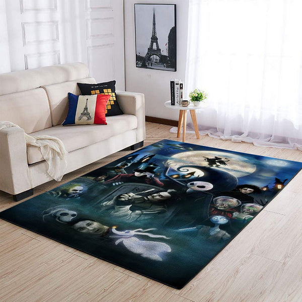 Tim Burton Characters Area Rugs, Movie Living Room Carpet, Custom Floor Decor 01