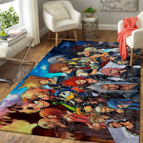 Kingdom Hearts Characters Area Rug / Gaming Carpet, Gamer Living Room Rugs, Floor Decor 19091602