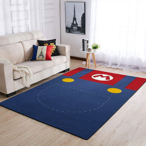 Mario Area Rug / Nintendo Video Game Carpet, Gamer Living Room Rugs, Floor Decor 191010
