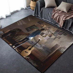 The Last of Us Area Rug / Gaming Carpet, Gamer Living Room Rugs, Floor Decor 021112