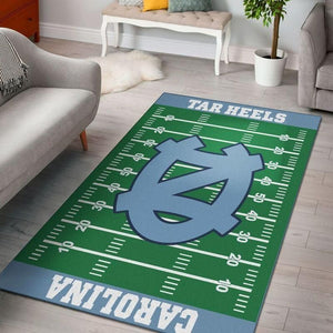 North Carolina Tar Heels Home Field Area Rug, Football Team Logo Carpet, Living Room Rugs Floor Decor F102123