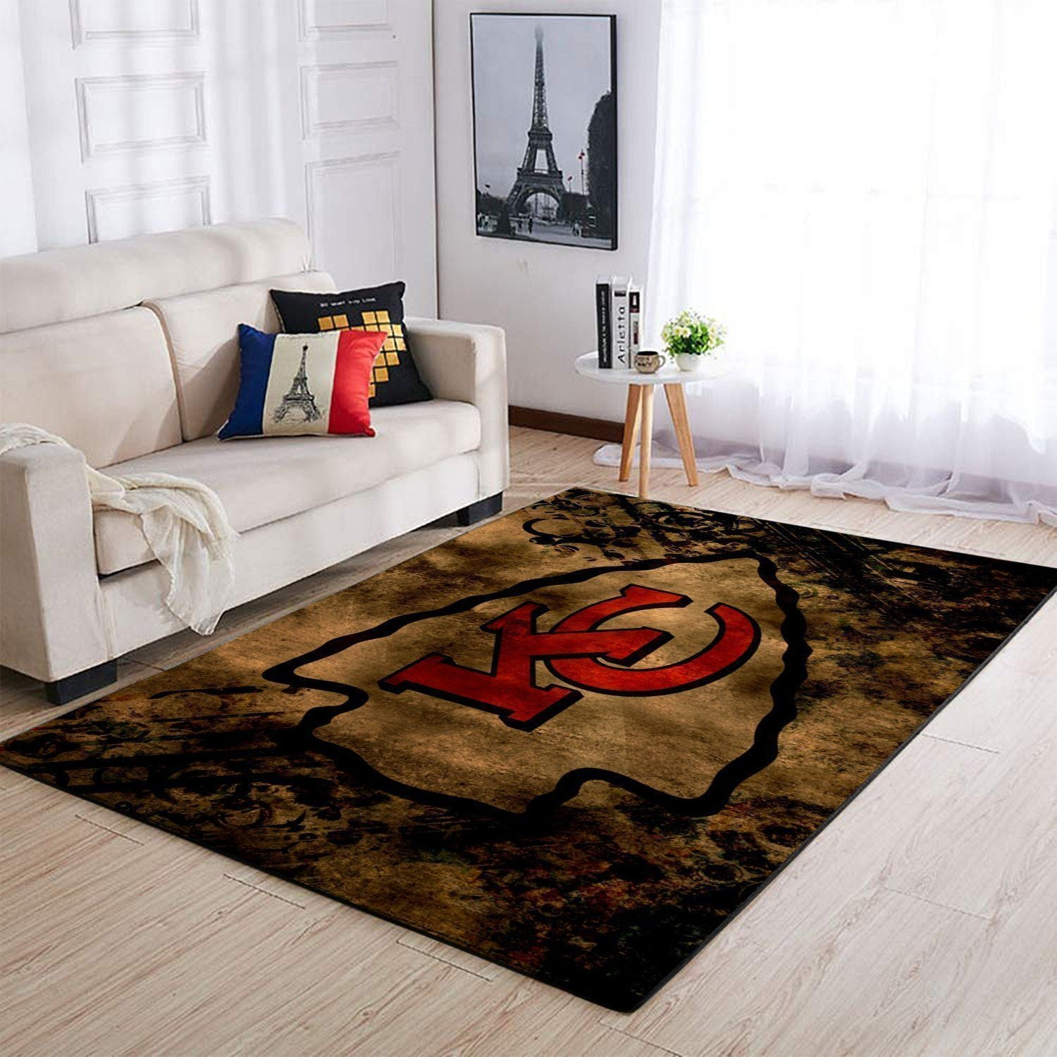 Kansas City Chiefs Area Rug, NFL Football Team Logo Carpet, Living Room Rugs Floor Decor 1910077