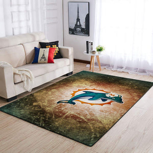 Miami Dolphins Area Rugs NFL Football Living Room Carpet Team Logo Custom Floor Home Decor 1910077