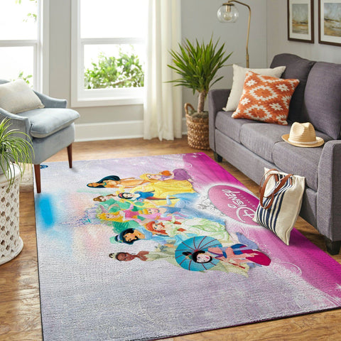 Disney Princess Area Rugs Disney Cartoons Carpet Living Room Carpet, Custom Floor Decor 191211