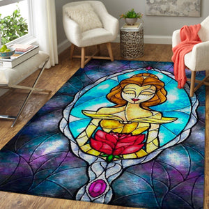 Beauty & The Beast Area Rugs / Disney Movie Living Room Carpet, Custom Floor Decor