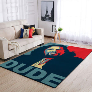 The Dude Area Rugs - The Big Lebowski Movie Living Room Carpet, Custom Floor Decor 01
