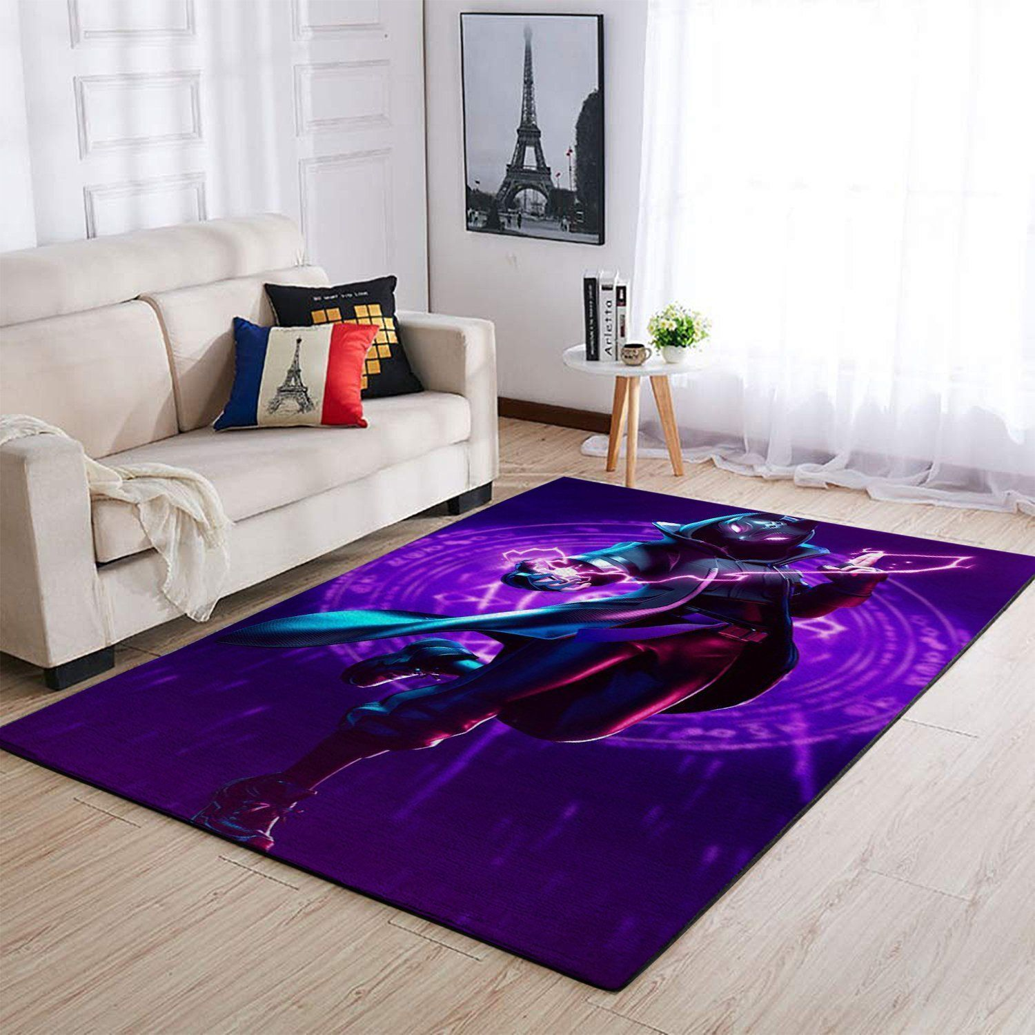 Fortnite Area Rug Video Game Carpet, Gamer Living Room Rugs, Floor Decor 1909264