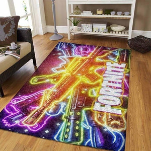 Fortnite Area Rug Video Game Carpet, Gamer Living Room Rugs, Floor Decor 1909082