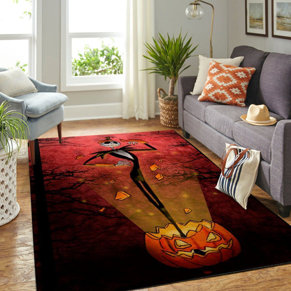 Jack Skellington in the Pumpkin  190909  Area Rugs Living Room Carpet, Custom Floor Decor