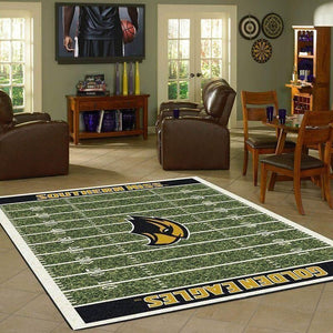 Southern Miss Golden Eagles Home Field Area Rug, Football Team Logo Carpet, Living Room Rugs Floor Decor F102181