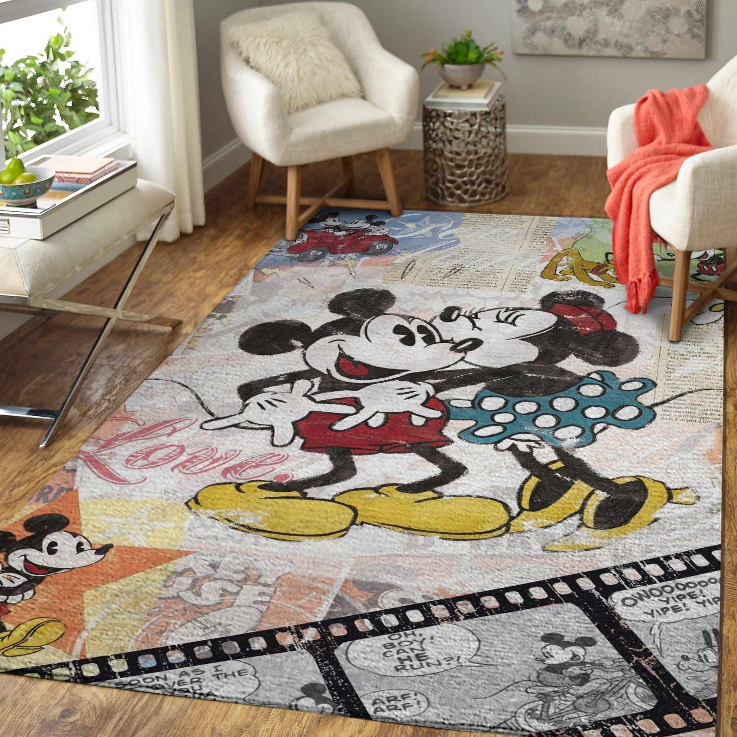 Mickey Mouse Area Rug, Disney Rugs Floor Decor RB7A8E7E4680