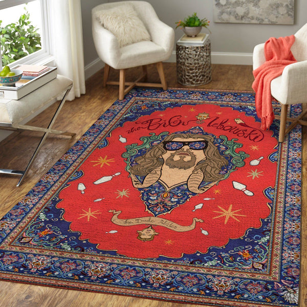 The Dude Area Rugs - The Big Lebowski Movie Living Room Carpet, Custom Floor Decor 1
