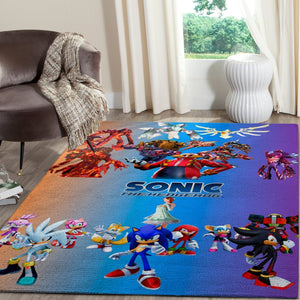 Sonic the Hedgehog Area Rug / Gaming Carpet, Gamer Living Room Rugs, Floor Decor 10119