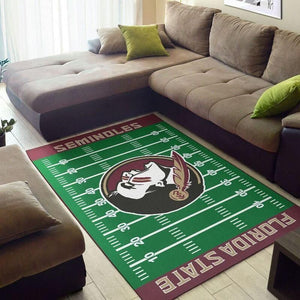 Florida State Seminoles Home Field Area Rug/ Football Team Logo Carpet, Living Room Rugs Floor Decor F102131
