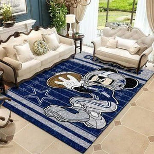 Dallas Cowboys Area Rugs NFL Football Living Room Carpet Team Logo Custom Floor Home Decor 0111191
