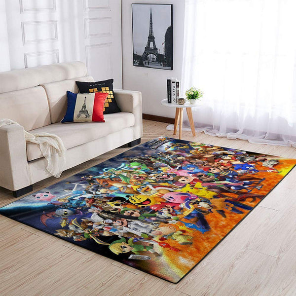Super Smash Bros. Characters Area Rug / Gaming Carpet, Gamer Living Room Rugs, Floor Decor 19091606