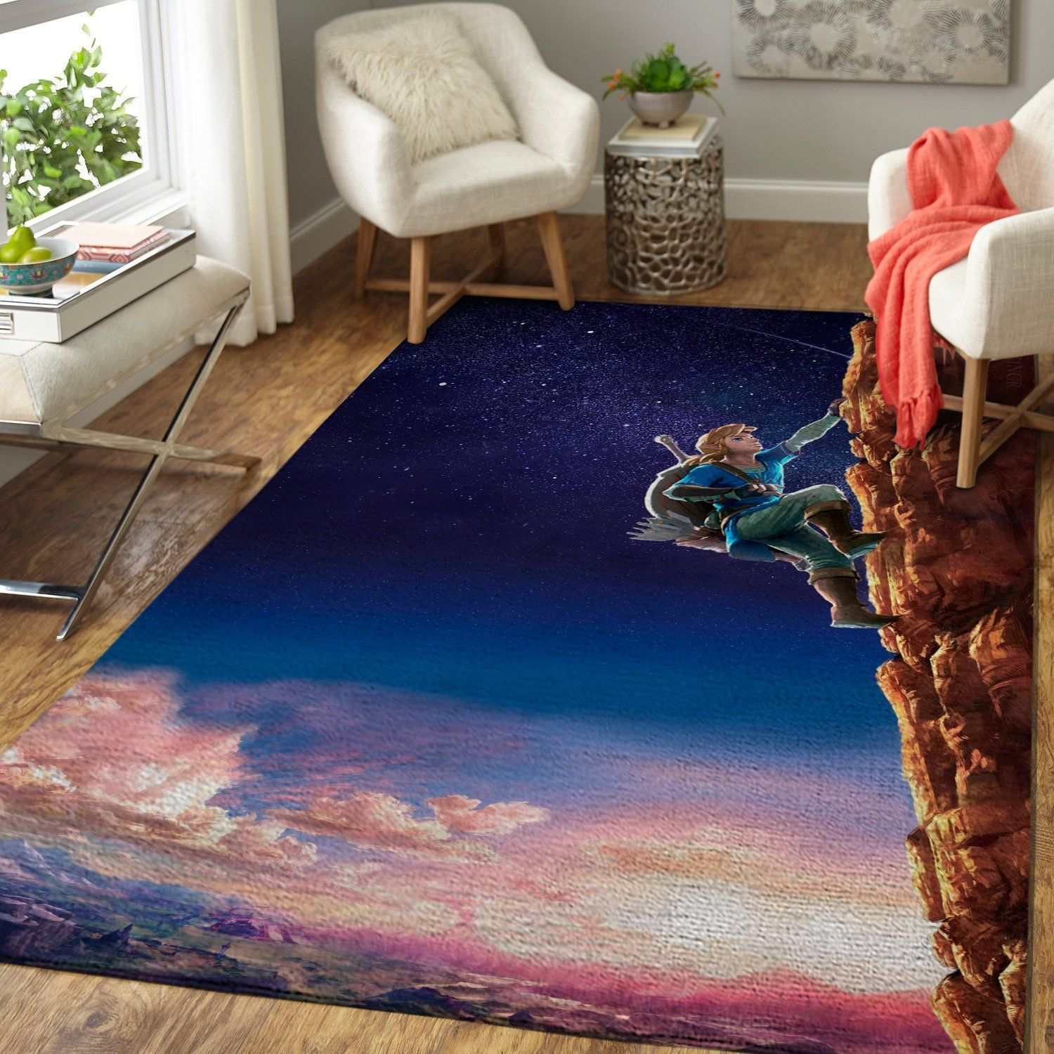 The Legend of Zelda Area Rug Nintendo Video Game Carpet, Gamer Living Room Rugs, Floor Decor 1910137
