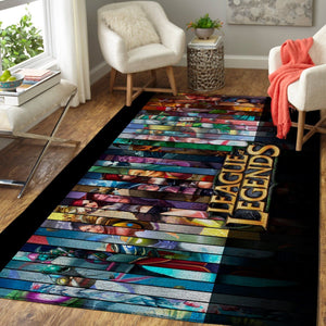 League Of Legends LOL Area Rug / Gaming Carpet, Gamer Living Room Rugs, Floor Decor 19091616