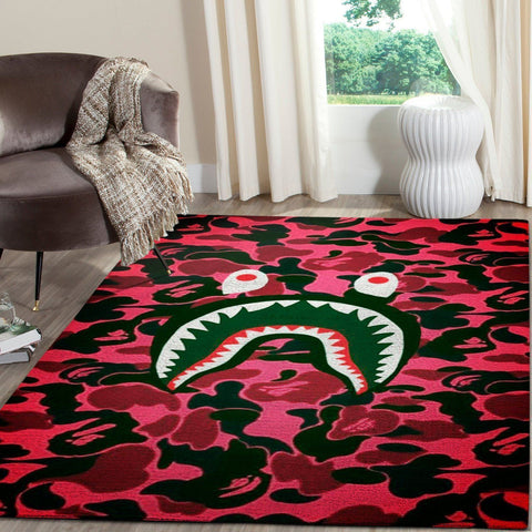BAPE Area Rug Hypebeast Carpet, Luxurious Fashion Brand Logo Living Room  Rugs, Floor Decor 191205