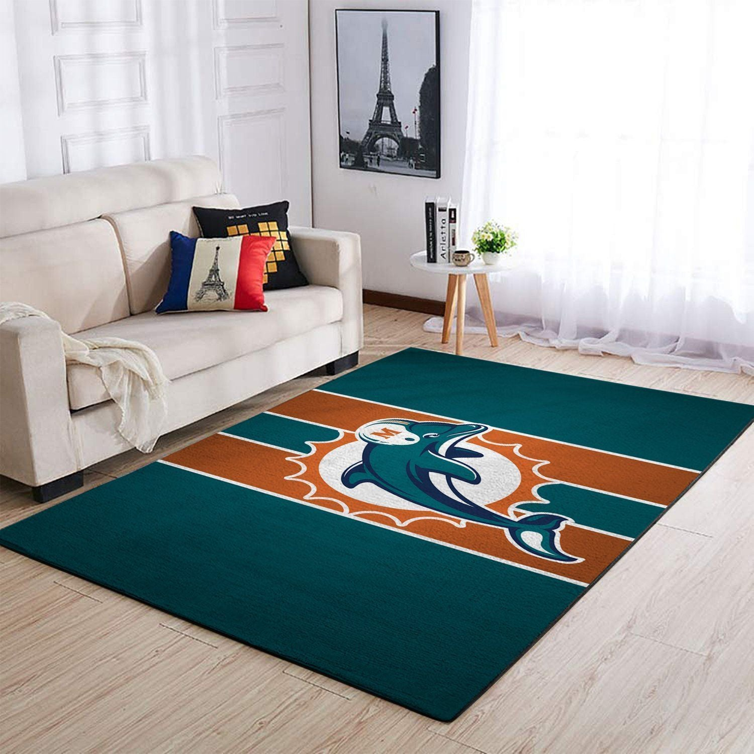 Miami Dolphins Area Rugs NFL Football Living Room Carpet Team Logo Custom Floor Home Decor 1910071