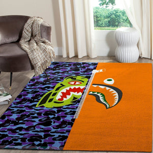 BAPE Area Rug Hypebeast Carpet, Luxurious Fashion Brand Logo Living Room  Rugs, Floor Decor 1912043
