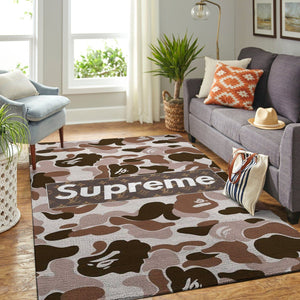 Louis Vuitton x Supreme Area Rug, Hypebeast Carpet, Luxurious Fashion Brand Logo Living Room  Rugs, Floor Decor 200102