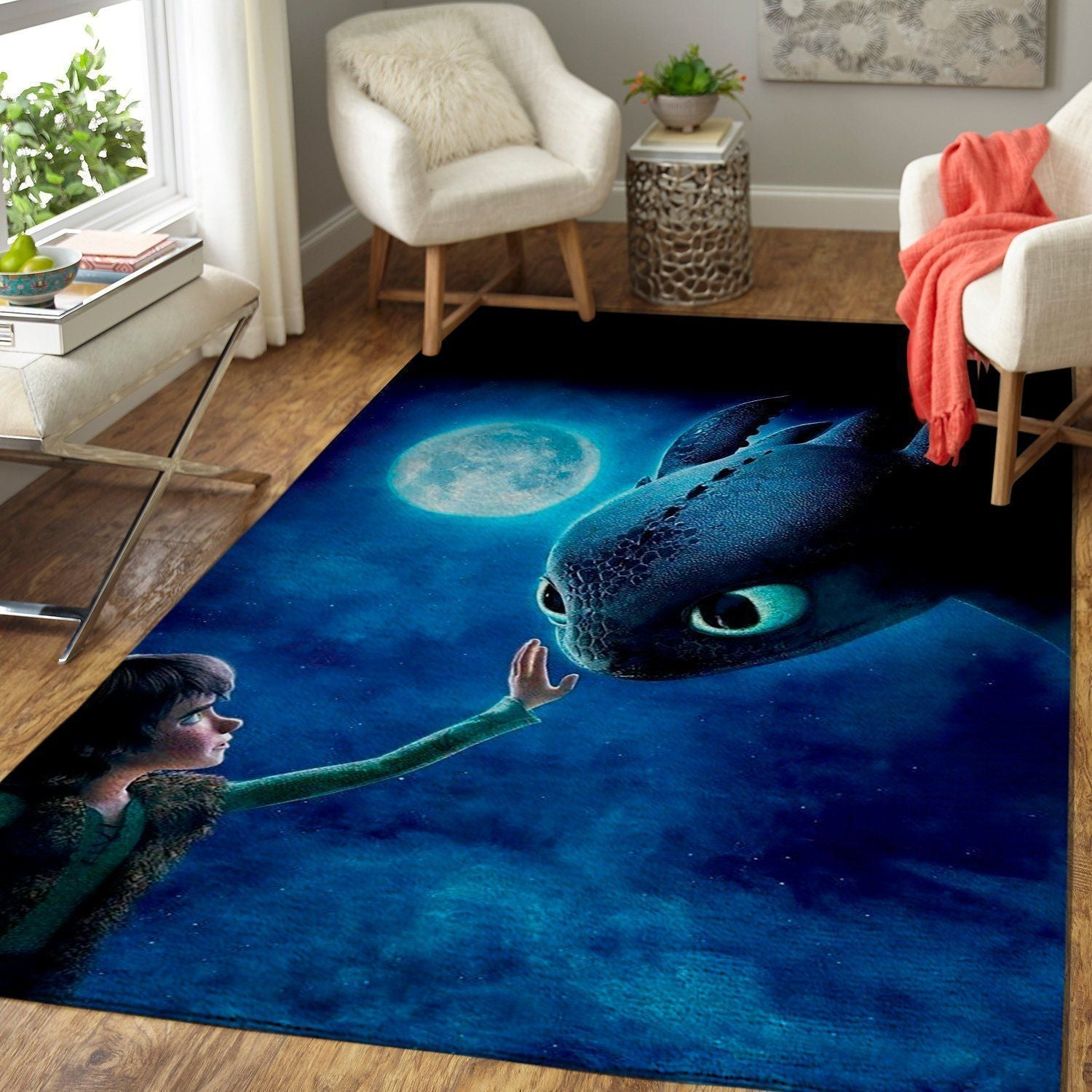 How To Train Your Dragon Area Rugs / Movie Living Room Carpet, Custom Floor Decor