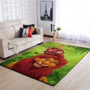 The Lion King Area Rugs, Disney Movie Living Room Carpet, Custom Floor Decor 3