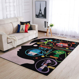 Inside Out Area Rugs / Movie Living Room Carpet, Custom Floor Decor