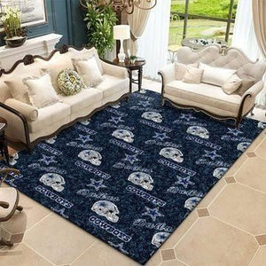 Dallas Cowboys Area Rugs NFL Football Living Room Carpet Team Logo Custom Floor Home Decor 0111192