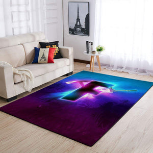 Fortnite Area Rug Video Game Carpet, Gamer Living Room Rugs, Floor Decor 1909262