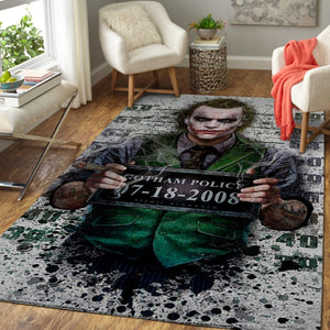 Joker Area Rugs / Movie Living Room Carpet, Custom Floor Decor