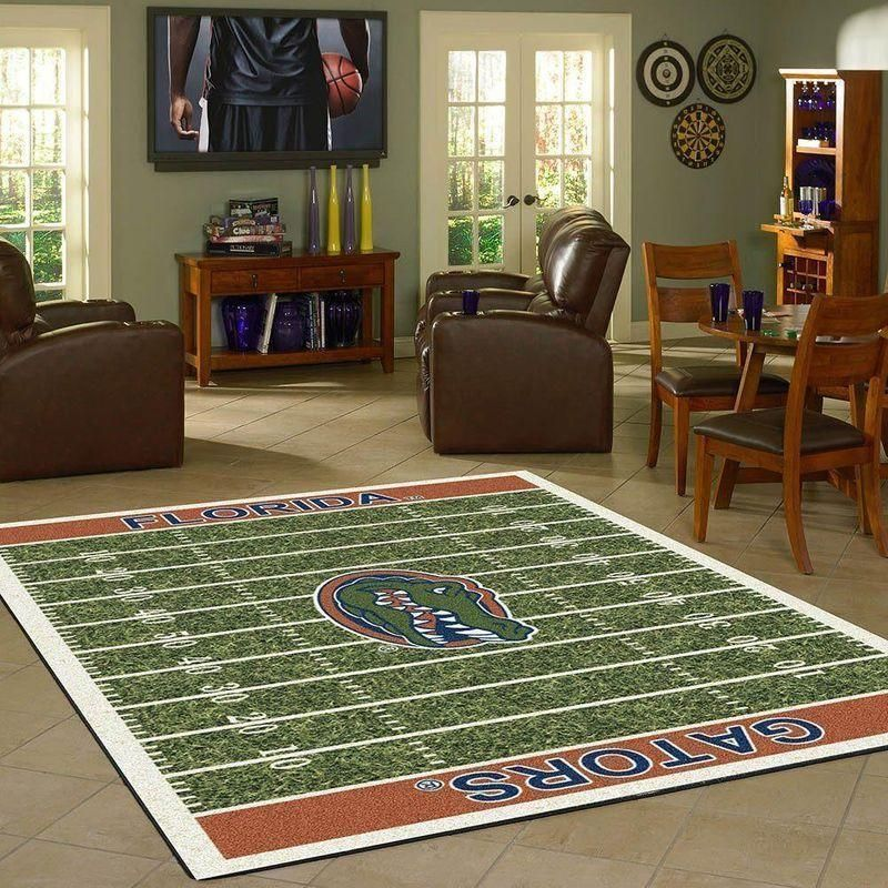 Florida Gators Home Field Area Rugs / Football Team Logo Carpet, Living Room Rugs Floor Home Decor F102158