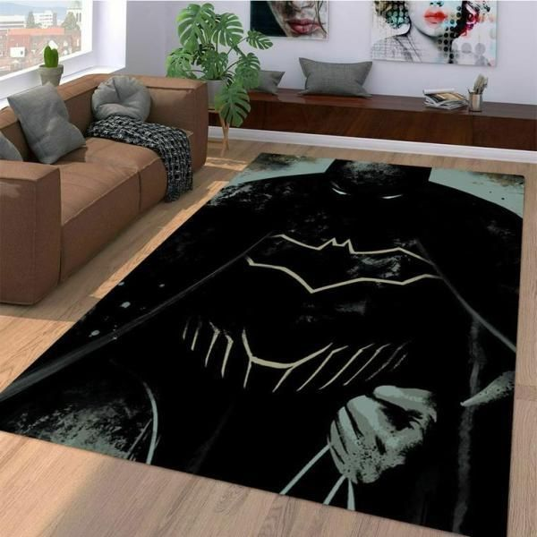 Batman Area Rugs, Superhero Movie Living Room Carpet, Custom Floor Decor 10117